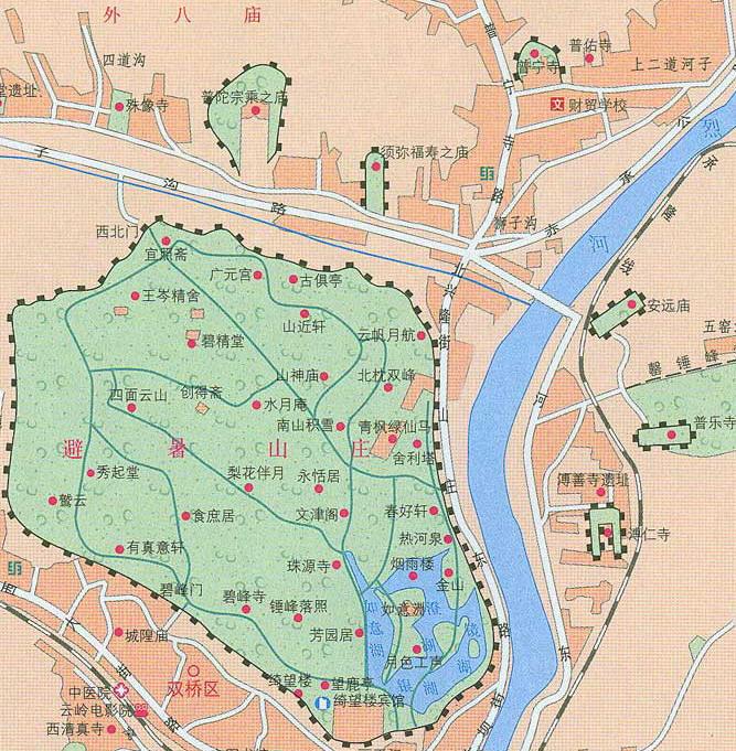 Chengde Map Map Of Chengde Chengde City Map - Chengde map