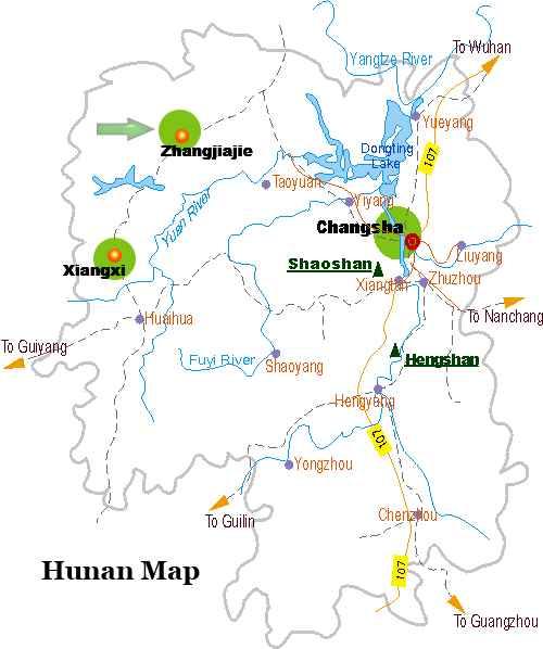 Zhangjiajie Map Map Of Zhangjiajie Zhangjiajie City Map