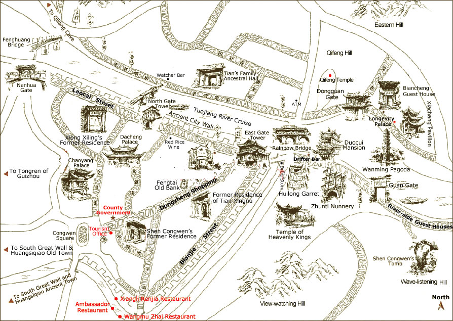 Fenghuang Map Map Of Fenghuang Fenghuang City Map