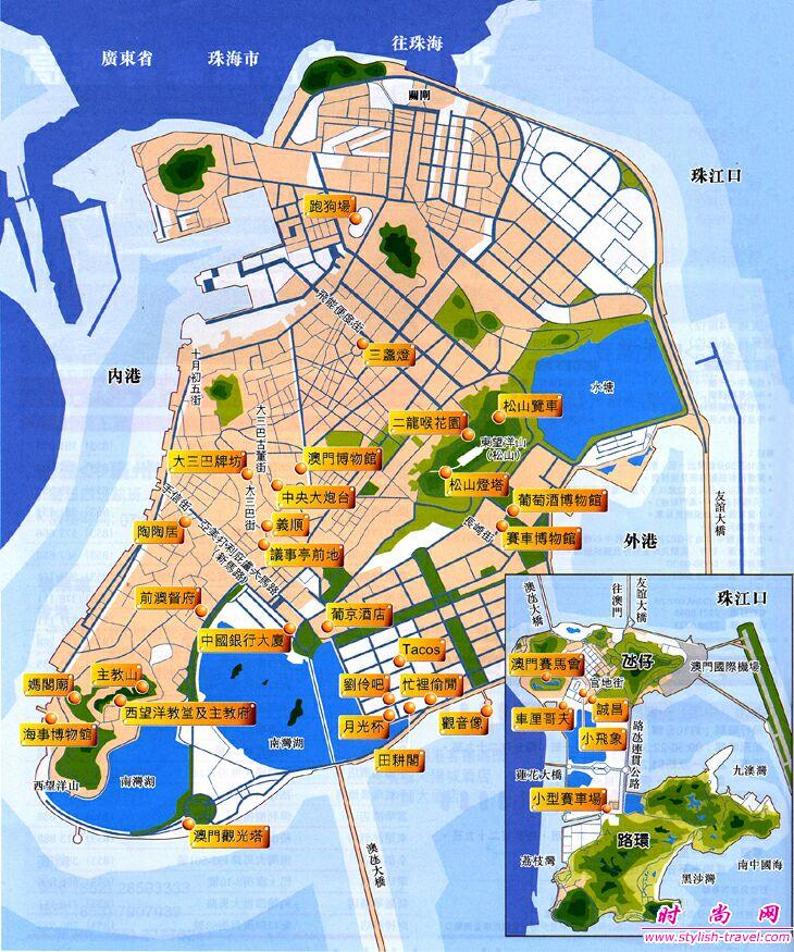 Macau Map Map Of Macau Macau City Map - Macau map