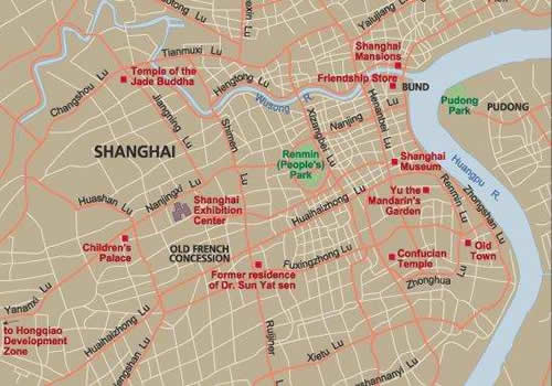 Shanghai Map Map of Shanghai Shanghai city map – Shanghai Tourist Attractions Map